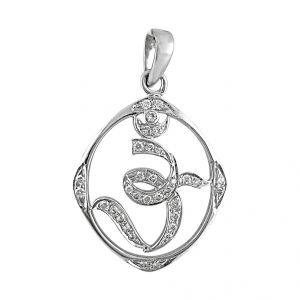 Jpearls Omkara Diamond Pendent For Mens