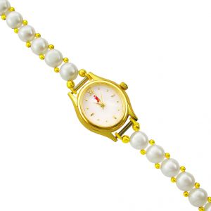 Jagdamba Women's Clothing - jpearls shiny pearl watch