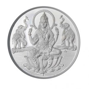 Jpearls 10 Grams Lakshmi Silver Coin 99.9 % Purity