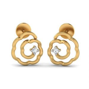 Jagdamba,Surat Diamonds,Valentine,Jharjhar Women's Clothing - SPIRAL 0.06CT DIAMOND STUDS (TER10212556 )