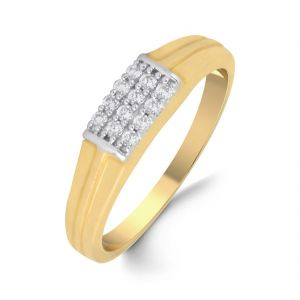 18 Kt Gold Luscious Diamond Finger Ring (tgr10110269 )