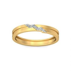 18 Kt Gold Blooming Diamond Finger Ring (tgr10212966 )