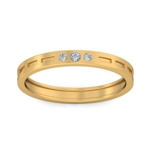 18 Kt Gold Fairy White Diamond Finger Ring (tgr10212968 )