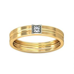 18 Kt Gold Divine Diamond Finger Ring (tgr10212980 )