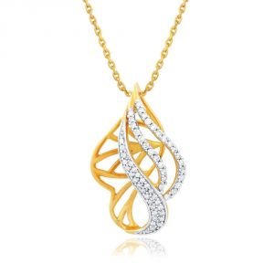 Avsar,Parineeta,Valentine,Diya,Gili Women's Clothing - Gili Yellow Gold Diamond Pendant OPL579SI-JK18Y