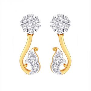 Soie,Unimod,Oviya,Clovia,Avsar,Gili Women's Clothing - Gili Yellow Gold Diamond Earrings DDE02169SI-JK18Y