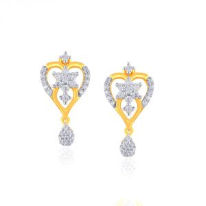 Nakshatra Yellow Gold Diamond Earrings Nera409si-jk18y