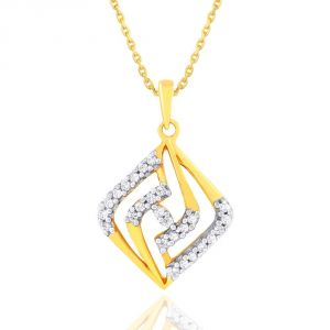 Asmi,Sukkhi,The Jewelbox,Parineeta,Clovia,Avsar,Pick Pocket Women's Clothing - Asmi Yellow Gold Diamond Pendant YDP00579SI-JK18Y