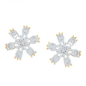 La Intimo,Shonaya,Sangini,Diya,Gili,Surat Tex Women's Clothing - Gili Yellow Gold Diamond Earrings DGER0024SI-JK18Y