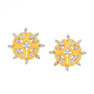 Platinum,Ivy,Unimod,Clovia,Gili,See More Women's Clothing - Gili Yellow Gold Diamond Earrings DGER0023SI-JK18Y