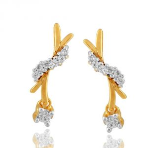 Asmi,Jpearls Women's Clothing - Asmi Yellow Gold Diamond Earrings APSE895SI-JK18Y