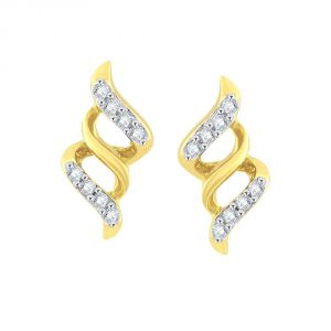 Hoop,Asmi,Kalazone,Lime,Ag,The Jewelbox Women's Clothing - Asmi Yellow Gold Diamond Earrings PE16962SI-JK18Y