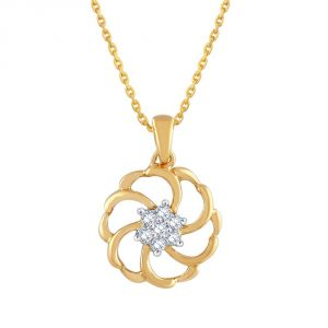 Shuddhi Yellow Gold Diamond Pendant Pp10720si-jk18y