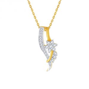 asmi,sukkhi,the jewelbox,parineeta,clovia,pick pocket Diamond Pendants, Sets - Asmi Yellow Gold Diamond Pendant PP12075SI-JK18Y