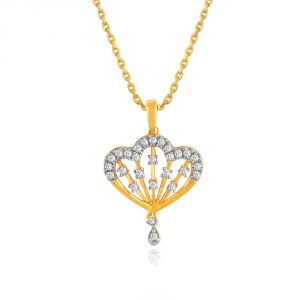Shuddhi Yellow Gold Diamond Pendant Pp19756si-jk18y