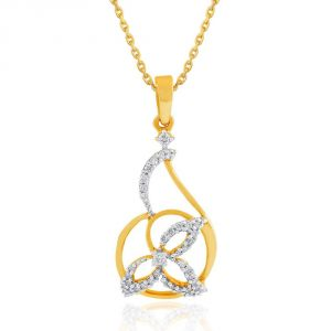 Triveni,My Pac,Clovia,Arpera,Gili Women's Clothing - Gili Yellow Gold Diamond Pendant BAP091SI-JK18Y
