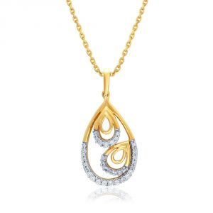 Asmi Yellow Gold Diamond Pendant Ddp03118si-jk18y