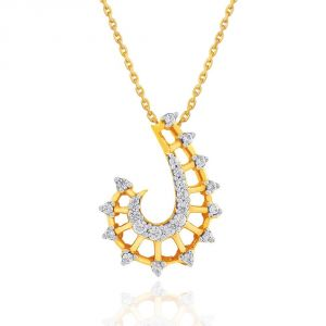 Hoop,Asmi,Kalazone,Lime,Ag,The Jewelbox Women's Clothing - Asmi Yellow Gold Diamond Pendant GP323SI-JK18Y