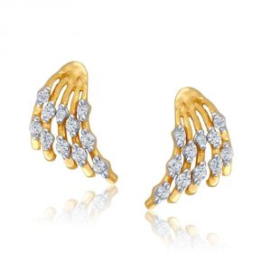 Vipul,Arpera,Clovia,Oviya,Sangini,Fasense Women's Clothing - Sangini Yellow Gold Diamond Earrings PE17926SI-JK18Y