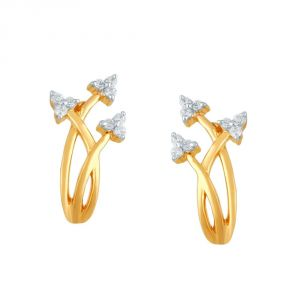 Asmi,Platinum,Ivy Women's Clothing - Asmi Yellow Gold Diamond Earrings PE21102SI-JK18Y