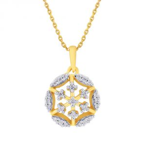Asmi Yellow Gold Diamond Pendant Pp11168si-jk18y