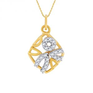 Rcpc,Sukkhi,La Intimo,Estoss,Asmi Women's Clothing - Asmi Yellow Gold Diamond Pendant PP11427SI-JK18Y