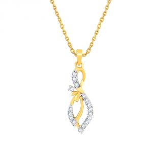 Asmi,Sukkhi,Triveni,Surat Tex,See More,Flora Women's Clothing - Asmi Yellow Gold Diamond Pendant PP12377SI-JK18Y