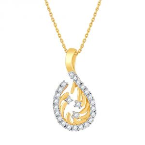 Asmi Jewellery - Asmi Yellow Gold Diamond Pendant PP13029SI-JK18Y