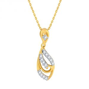 Asmi,Sukkhi,Triveni,Surat Tex,See More,Flora Women's Clothing - Asmi Yellow Gold Diamond Pendant PP13145SI-JK18Y
