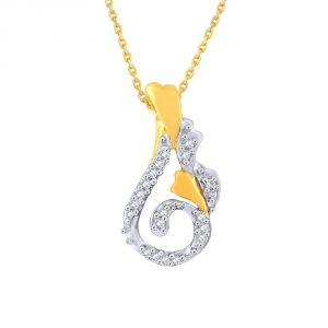 Asmi,Platinum,Vipul Women's Clothing - Asmi Yellow Gold Diamond Pendant PP16861SI-JK18Y