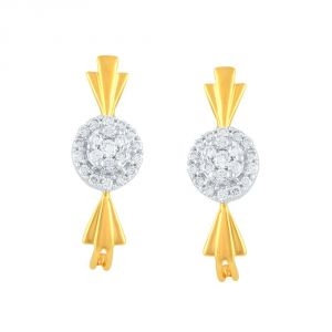 Nirvana Yellow Gold Diamond Earrings Ue066si-jk18y