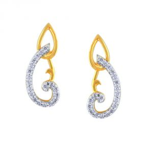 Asmi,Platinum,Ivy,Unimod,Clovia,Estoss,Kalazone Women's Clothing - Asmi Yellow Gold Diamond Earrings IDE00866SI-JK18Y