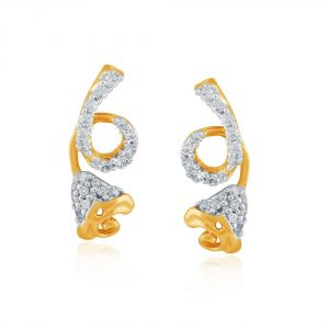 Asmi Yellow Gold Diamond Earrings Oe790si-jk18y