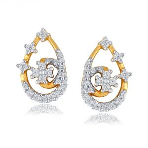 Sangini Yellow Gold Diamond Earrings De929si-jk18y