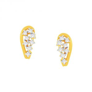 Vipul,Arpera,Clovia,Oviya,Sangini,Fasense Women's Clothing - Sangini Yellow Gold Diamond Earrings YE287SI-JK18Y