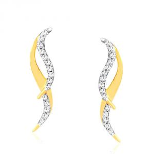 Soie,Unimod,Oviya,Clovia,Avsar,Gili Women's Clothing - Gili Yellow Gold Diamond Earrings OE511SI-JK18Y