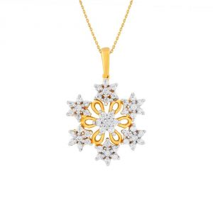 Nakshatra Yellow Gold Diamond Pendant Pp20654si-jk18y
