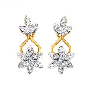 Rcpc,Sangini Women's Clothing - Sangini Yellow Gold Diamond Earrings ETD129SI-JK18Y