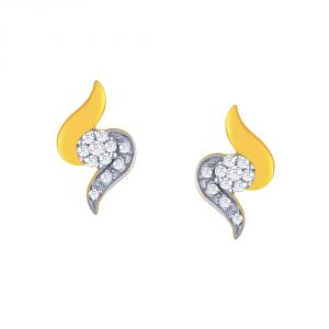 Nirvana Yellow Gold Diamond Earrings Rde00150si-jk18y