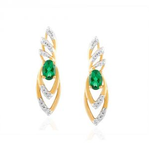 Kiara,Sparkles,Jagdamba,Gili Diamond Jewellery - Gili Yellow Gold Diamond Earrings VIE00069SI-JK18Y