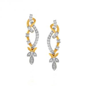 Asmi,Sukkhi,Triveni,Surat Tex,See More Women's Clothing - Asmi Yellow Gold Diamond Earrings PE20126SI-JK18Y