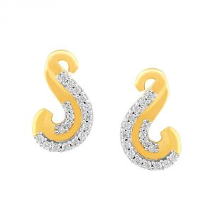 Asmi,Sukkhi,Sangini,Lime,Sleeping Story Diamond Jewellery - Asmi Yellow Gold Diamond Earrings PE11420SI-JK18Y