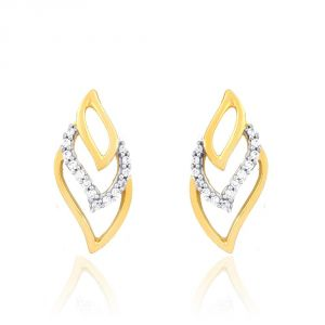 Rcpc,Sukkhi,La Intimo,Estoss,Asmi Women's Clothing - Asmi Yellow Gold Diamond Earrings RDE00246SI-JK18Y