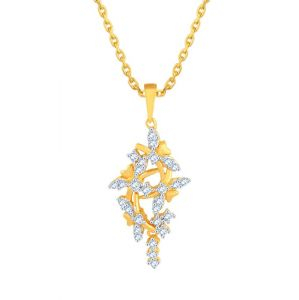 Triveni,Platinum,Asmi,Kalazone,Pick Pocket,La Intimo Women's Clothing - Asmi Yellow Gold Diamond Pendant PP12707SI-JK18Y