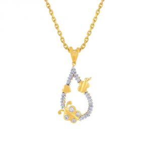 Hoop,Shonaya,The Jewelbox,Gili,Avsar,Ag,Cloe Women's Clothing - Gili Yellow Gold Diamond Pendant SJP316SI-JK18Y