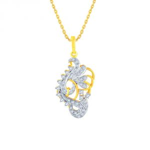 Surat Tex,Soie,Jagdamba,Sangini,Jpearls,Lime Women's Clothing - Sangini Yellow Gold Diamond Pendant AP255SI-JK18Y