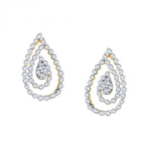 Sukkhi,Sangini,Lime Women's Clothing - Sangini Yellow Gold Diamond Earrings FE959SI-JK18Y
