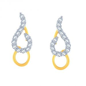 Kiara,Sparkles,Jagdamba,Cloe,Bagforever,Sukkhi,Asmi,Diya Women's Clothing - Asmi Yellow Gold Diamond Earrings DGPSE0015SI-JK18Y