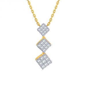 Triveni,Sangini,Gili,Sukkhi,Estoss Women's Clothing - Sangini Yellow Gold Diamond Pendant IP704SI-JK18Y