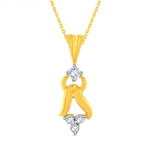 Me-solitaire Yellow Gold Diamond Pendant Ap746si-jk18y
